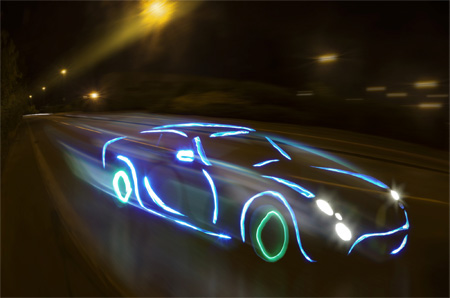 car lights dim