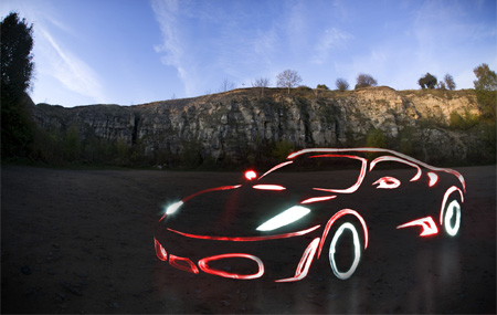 Ferrari F430 Light Graffiti