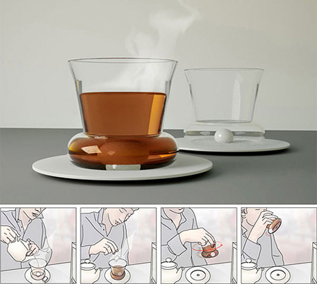 Stirring Tea Glass