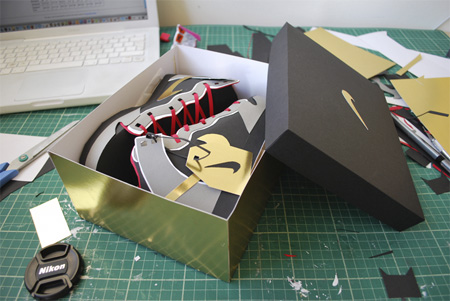 Nike Shoes made from Paper