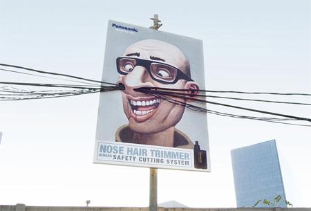 Panasonic Nose Hair Trimmer Ads