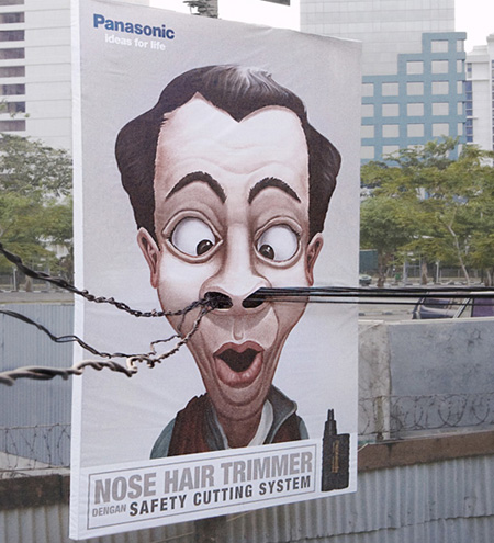 Panasonic Nose Hair Trimmer Ad
