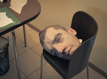 Papercraft Head made for Halloween