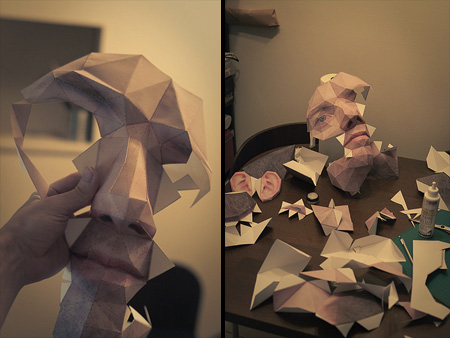 Paper Head Halloween Costume