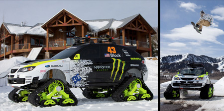 Modified Car Drives on Snow