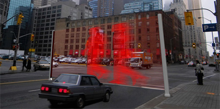 Innovative Laser Crosswalk Concept