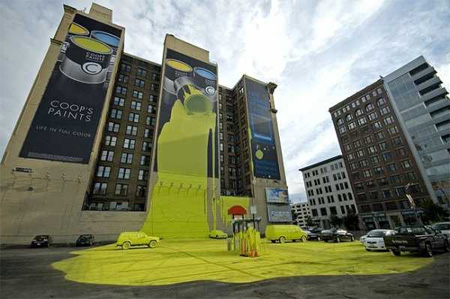 Coops Paint Building Advertisement