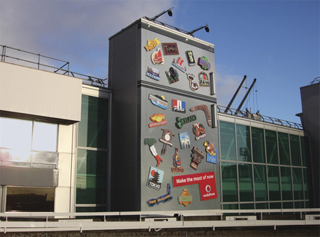 Vodafone Building Advertisement