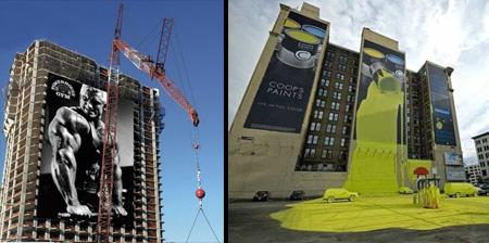 Creative Advertising on Buildings