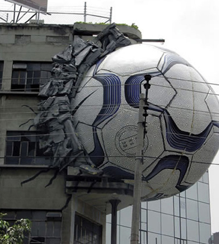 Nike Ball Building Advertisement