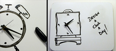 Whiteboard Clock