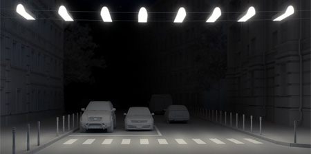 Illuminated Air Crosswalk Concept