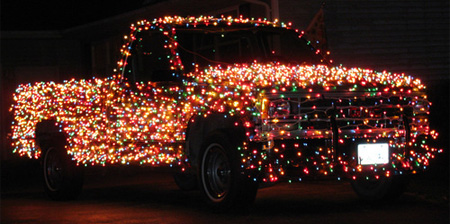 Christmas Truck With 3000 Lights
