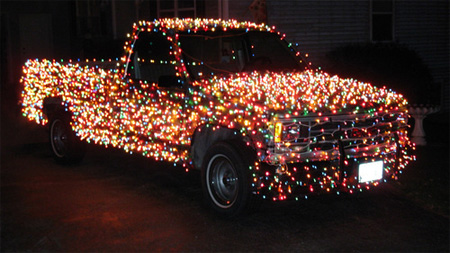 Christmas Lights Truck