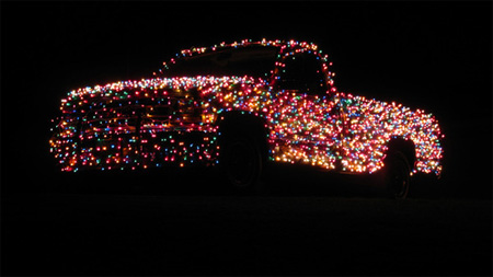 Christmas Themed Lights Truck