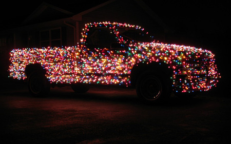 Christmas Themed Truck