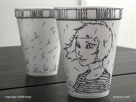 Foam Cup Drawings