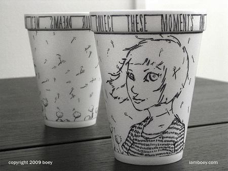Foam Cup Drawings