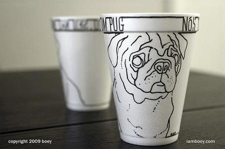 Foam Coffee Cup Drawings