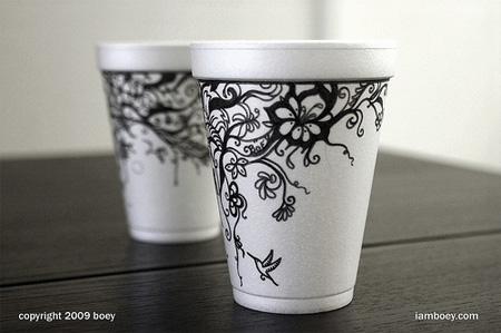 Styrofoam Coffee Cup Drawings