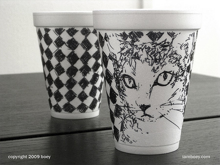 Foam Coffee Cup Art