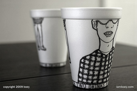 Styrofoam Coffee Cup Art