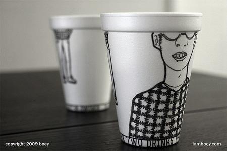 Styrofoam Coffee Cup Art