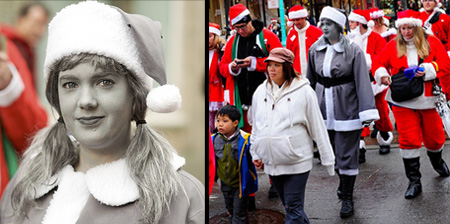 Desaturated Santa Claus Costume