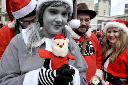 Desaturated Santa Costume