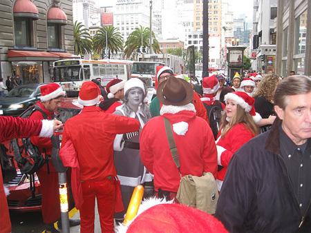 Desaturated Santa Claus