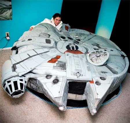 Millennium Falcon Bed by Kayla Kromer