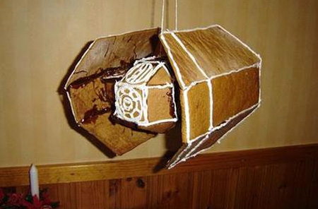 Gingerbread Star Wars TIE Fighter