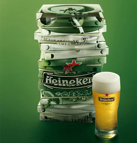 Heineken Pizza Boxes