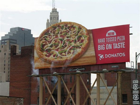 Steaming Pizza Billboard