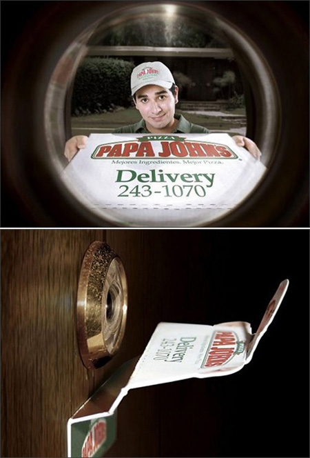 Pizza Peephole Advertisement