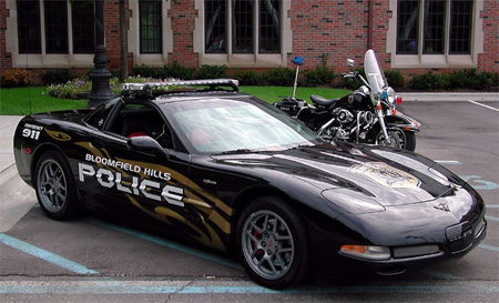 Chevrolet Corvette Police Car