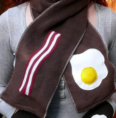 Bacon and Egg Scarf