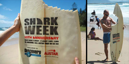Clever Shark Week Surfboard
