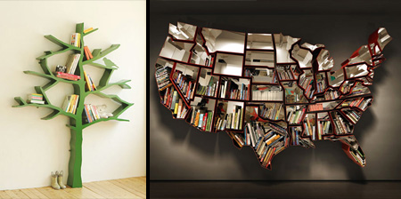 Creative Shelf and unusual bookshelves
