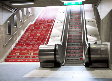 Coca Cola Stairs Advertisement