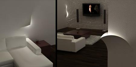 LED Torn Lighting Concept