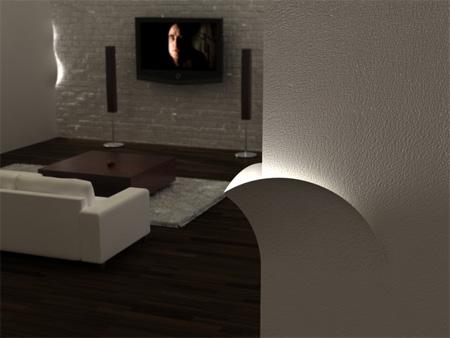 LED Torn Lights Concept