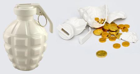 Hand Grenade Coin Bank