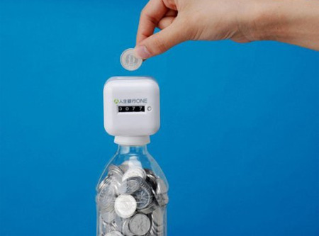 Bottle Top Coin Bank