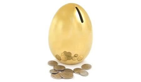 Golden Egg Coin Bank