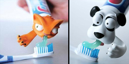 Animal Toothpaste Heads