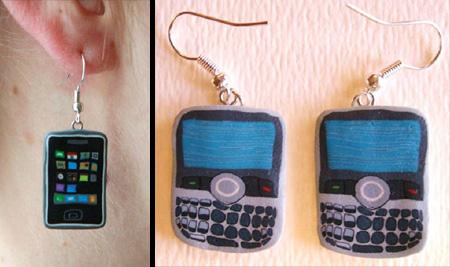 Cell Phone Earrings