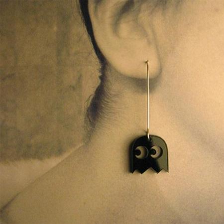 Pac-Man Ghost Earrings