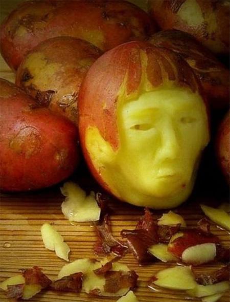 Potato Art by Saxton Freymann