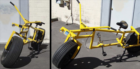Cool Bike with Car Wheels